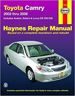 2003 toyota camry repair manual free download