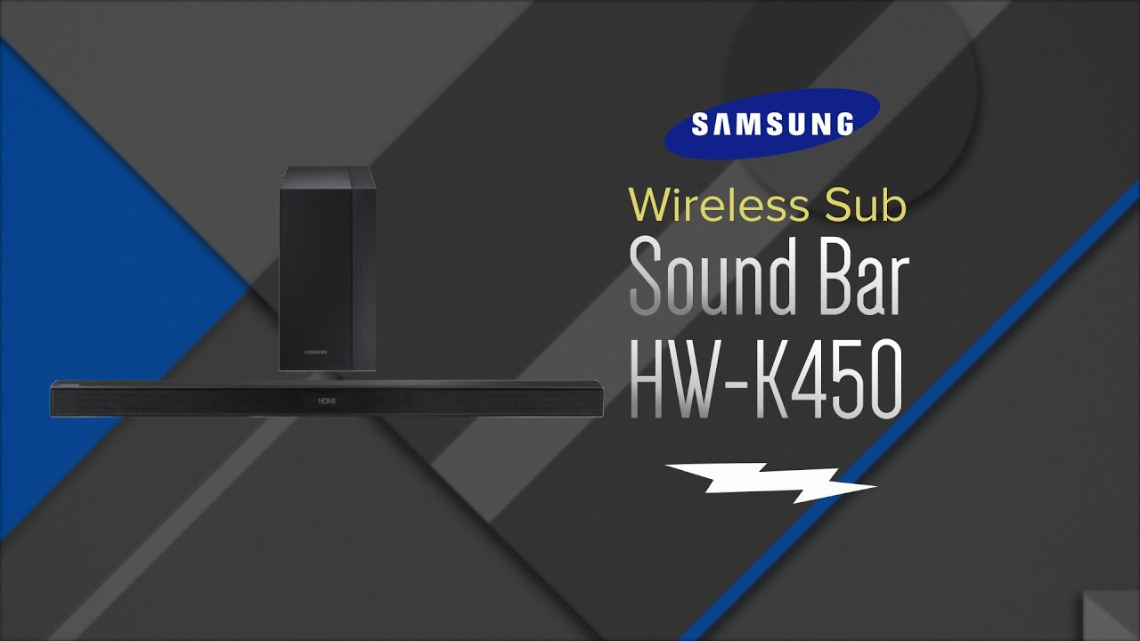 samsung hw k450 2.1 wireless sound bar manual