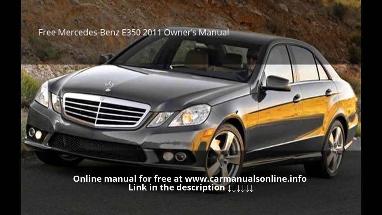 mercedes e350 owners manual download