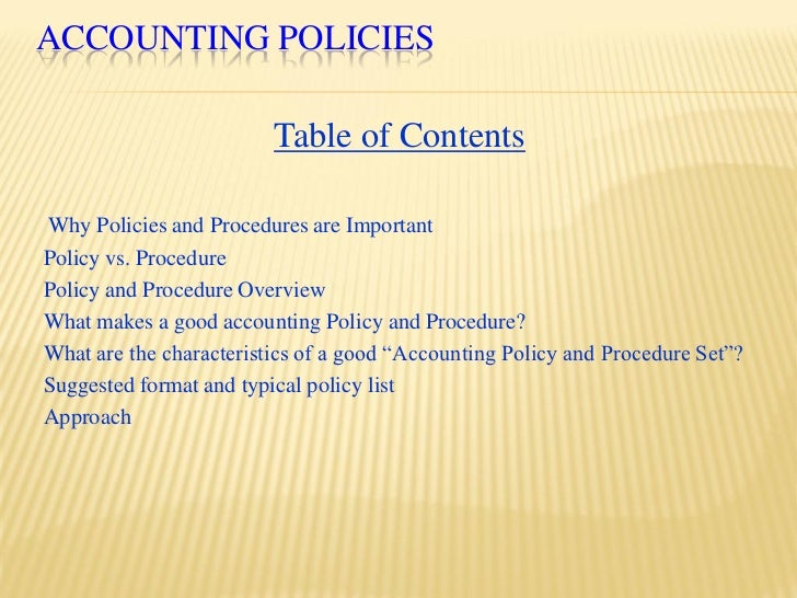 accounting policies and procedures manual pdf